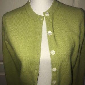 Banana Republic Sweaters - Banana Republic Green Wool Blend Cardigan Sweater